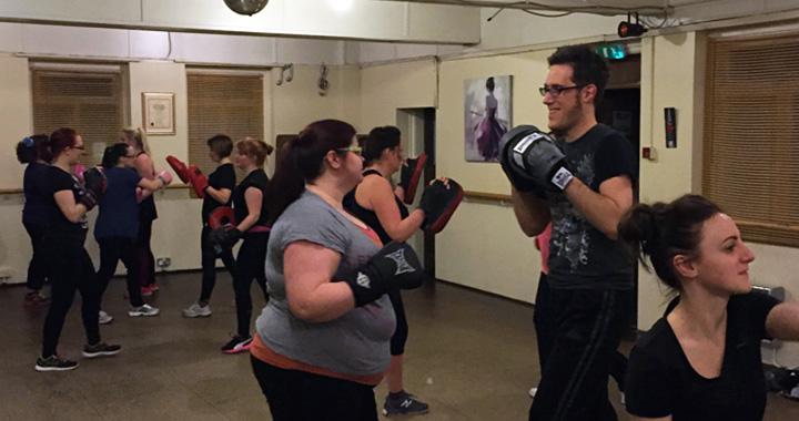 Kickboxing at Topaz dance Studio, Garston Village