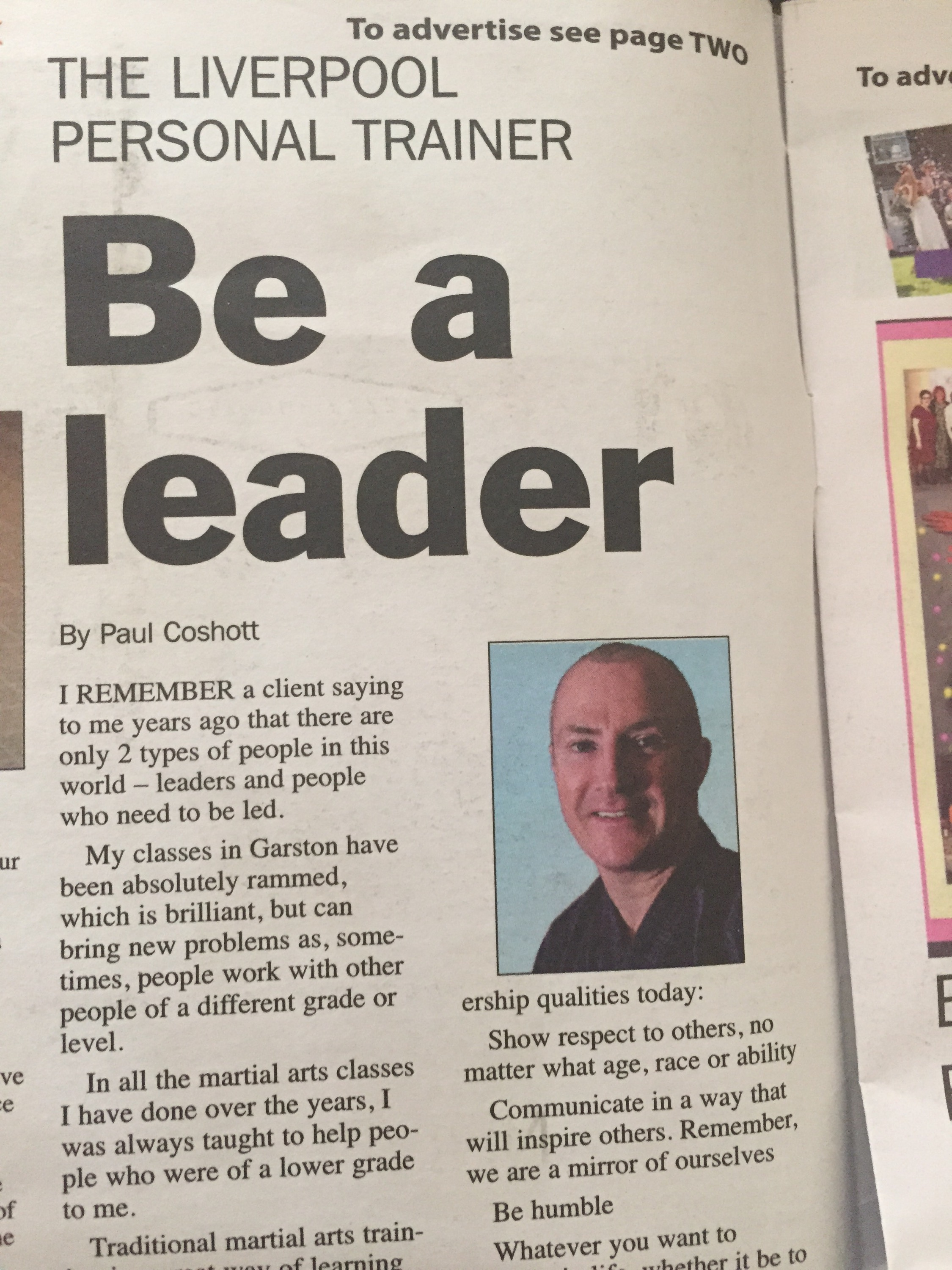 My latest Newspaper article
